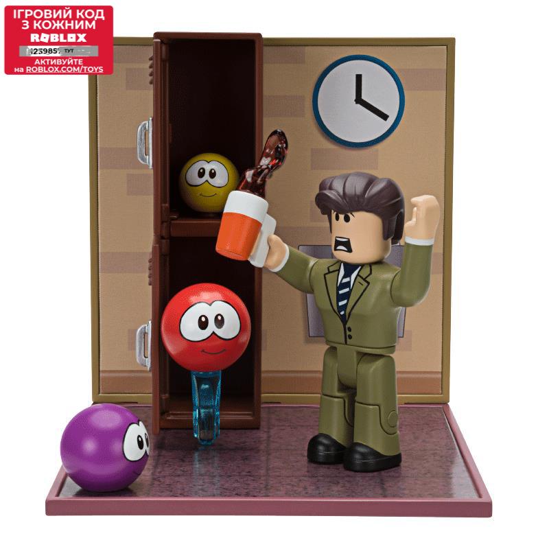 Roblox Игровая коллекционная фигурка Desktop Series Meep City: Principal Panic W6