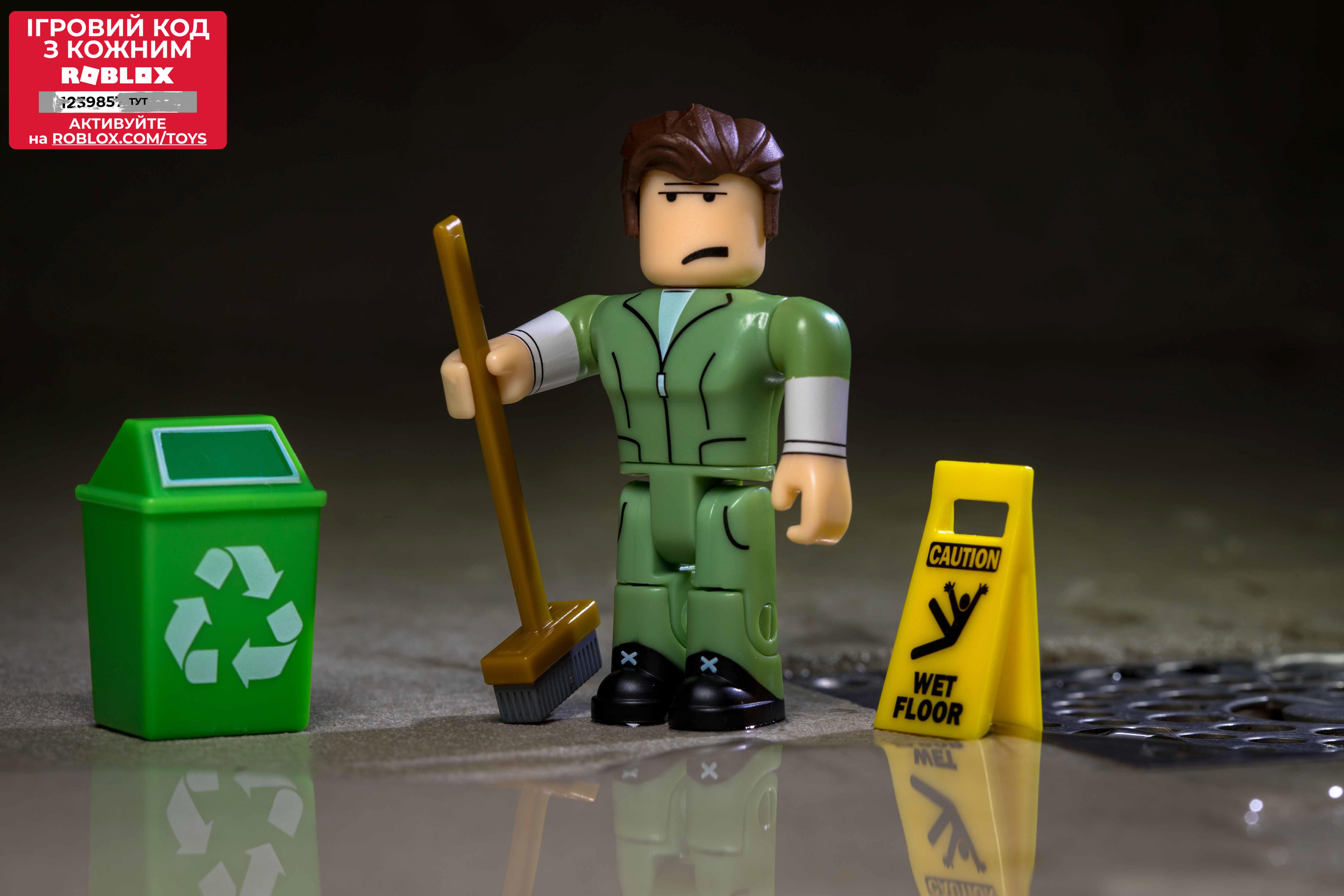 Roblox Игровая коллекционная фигурка Сore Figures Welcome to Bloxburg: Glen the Janitor W3