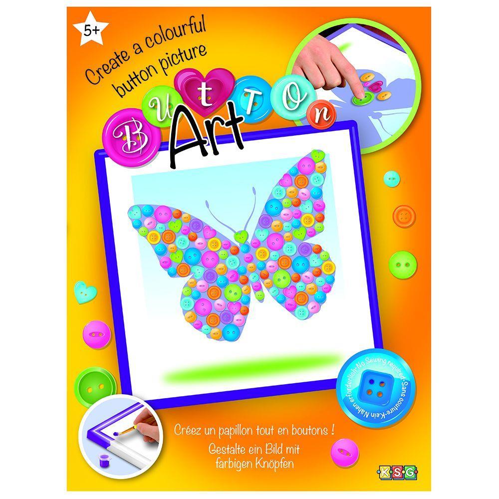 Sequin Art Набор для творчества BUTTON Butterfly