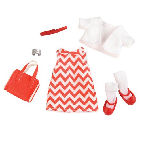 LORI Набір одягу для ляльок - Сукня з принтом