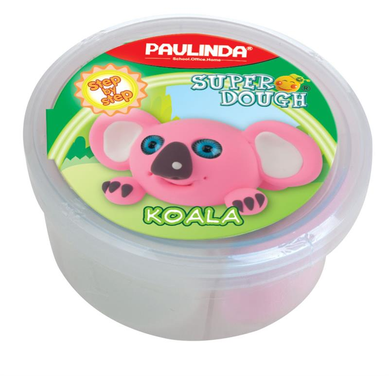 PAULINDA Масса для лепки Super dough 40г Коала
