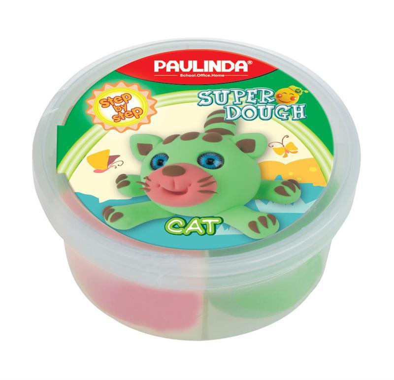 PAULINDA Масса для лепки Super dough 40г Кот