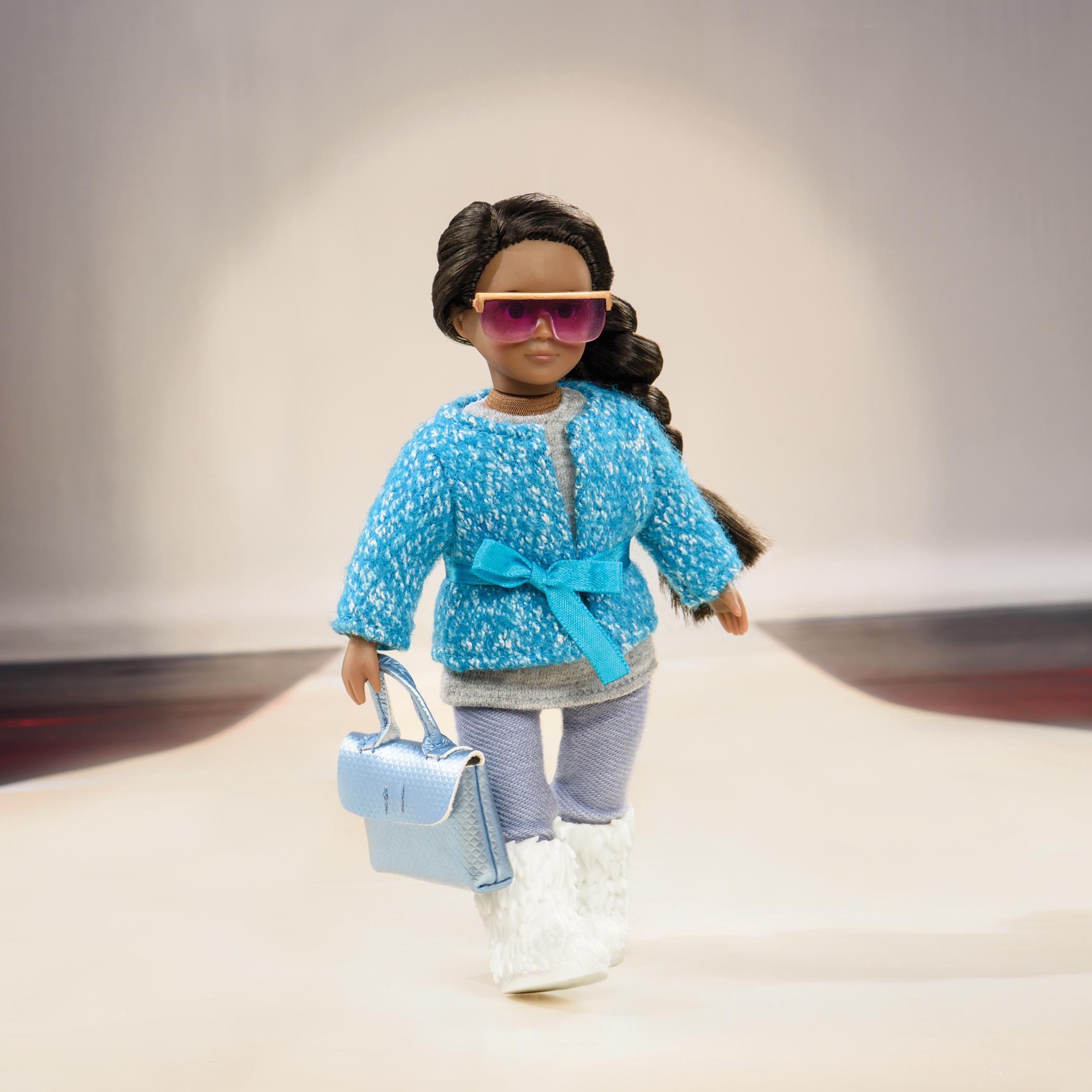 LORI Набор одежды для кукол - Голубое пальто