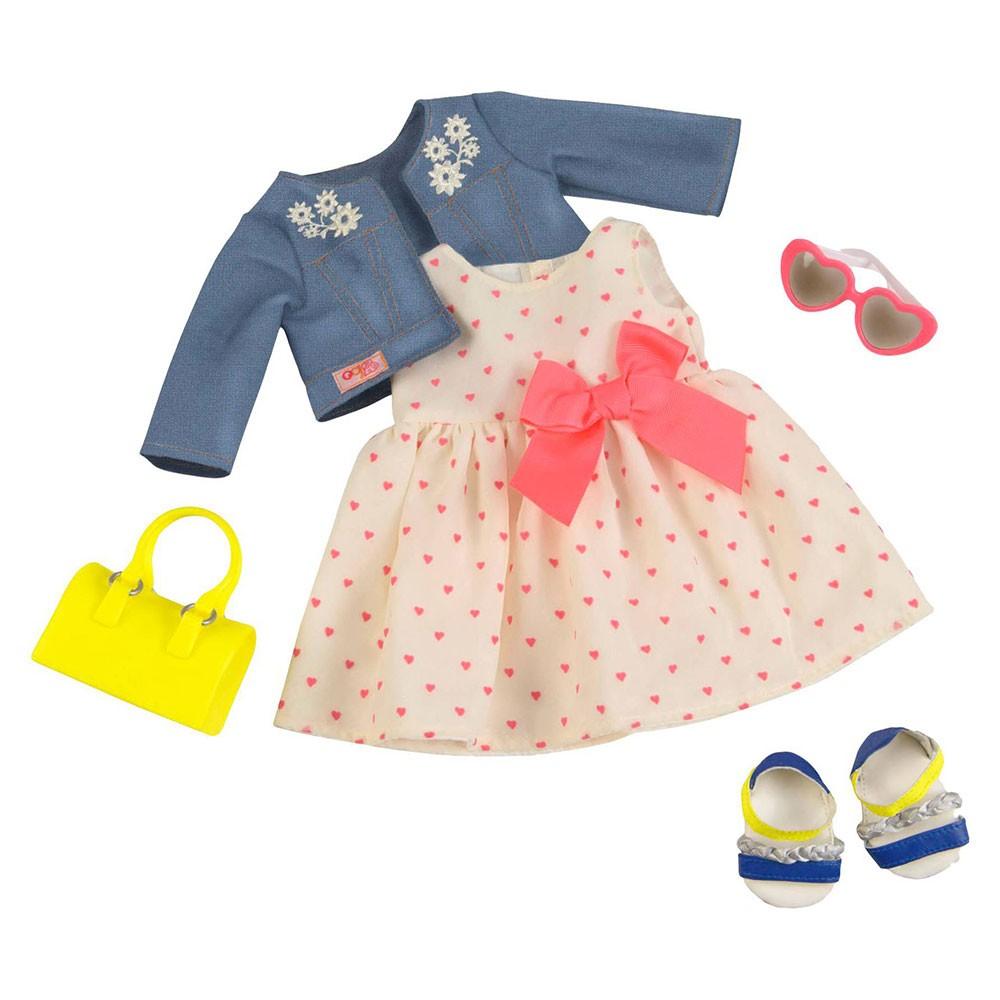 Our Generation Набір одягу для ляльок Deluxe - Сукня з сердечками і жакетом