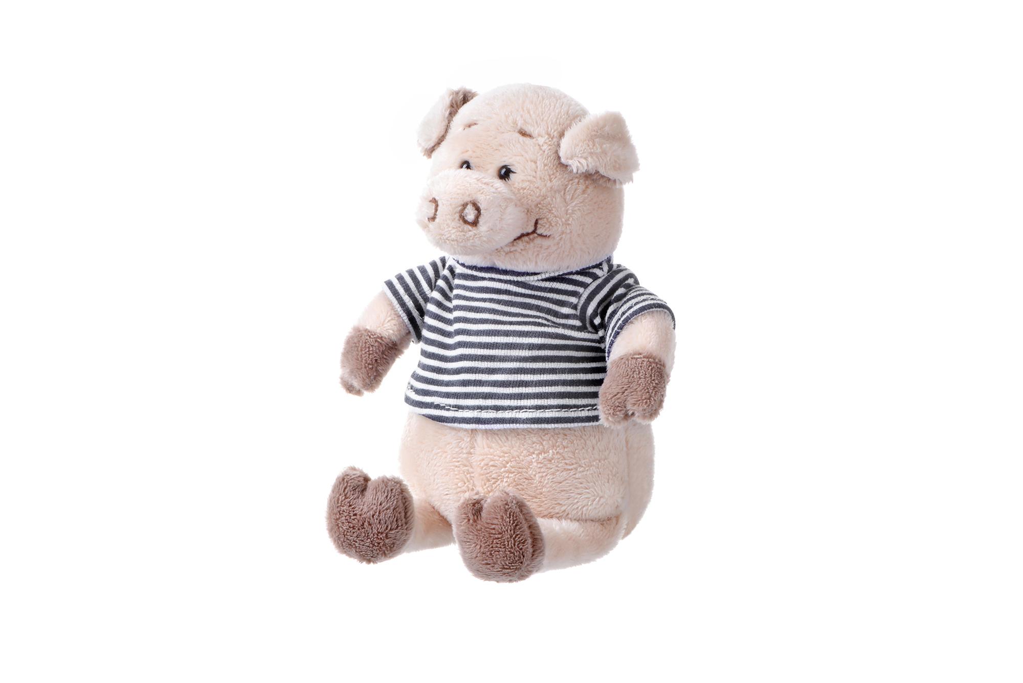 Same Toy Свинка в тельняшке (черный) 18 см