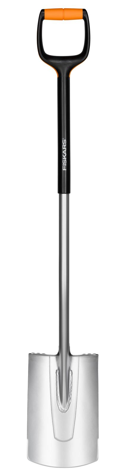 Fiskars Лопата прямая с закругленным лезвием Xact L,  1200 см, 1900г