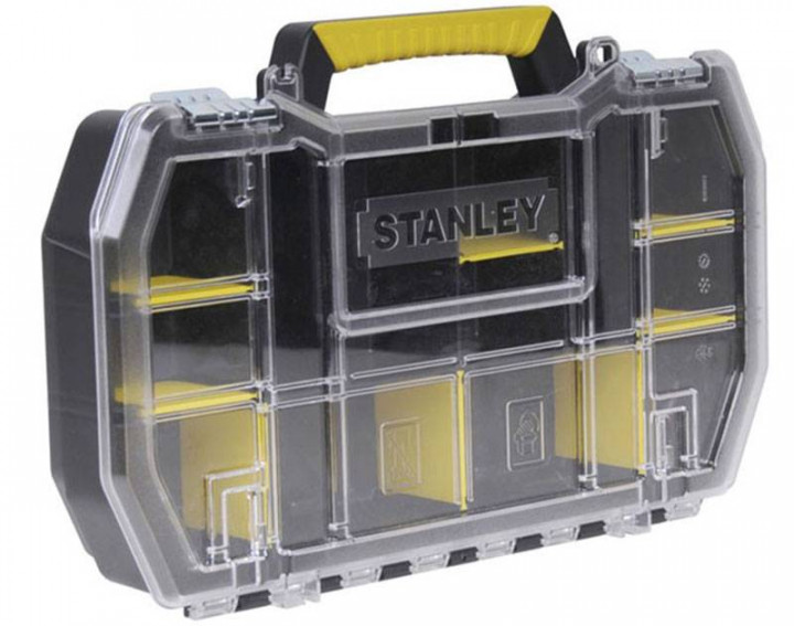 Stanley Ящик (кассетница) 50 x 9,5 x 33см с металлическими замками.