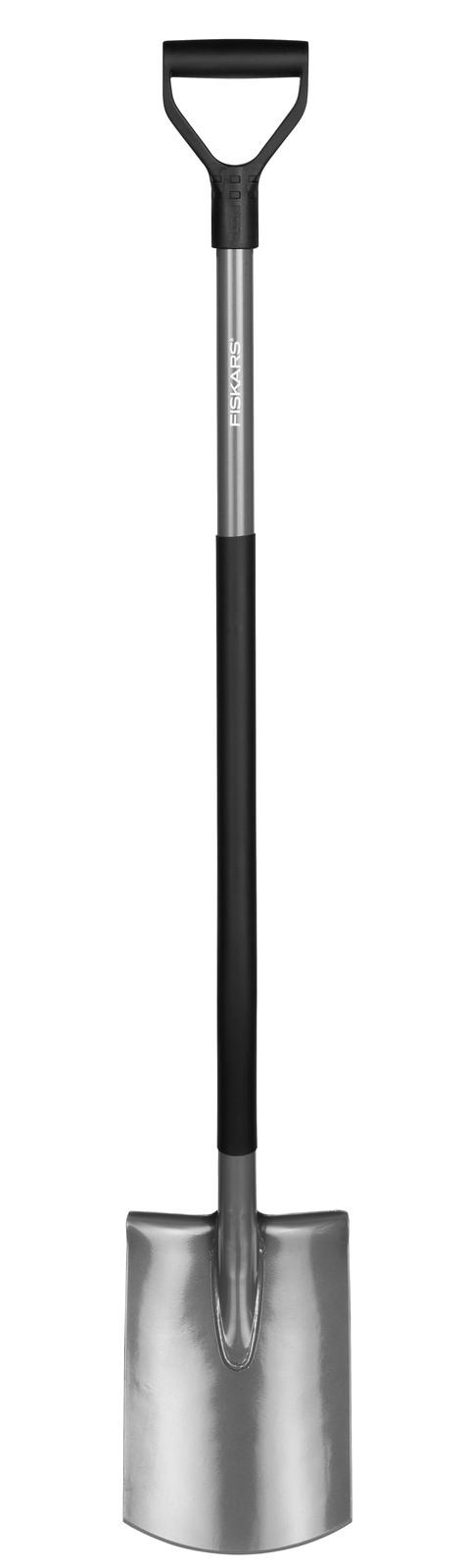 Fiskars Лопата прямая  с закругленным лезвием Ergonomic,  125 см, 2100г