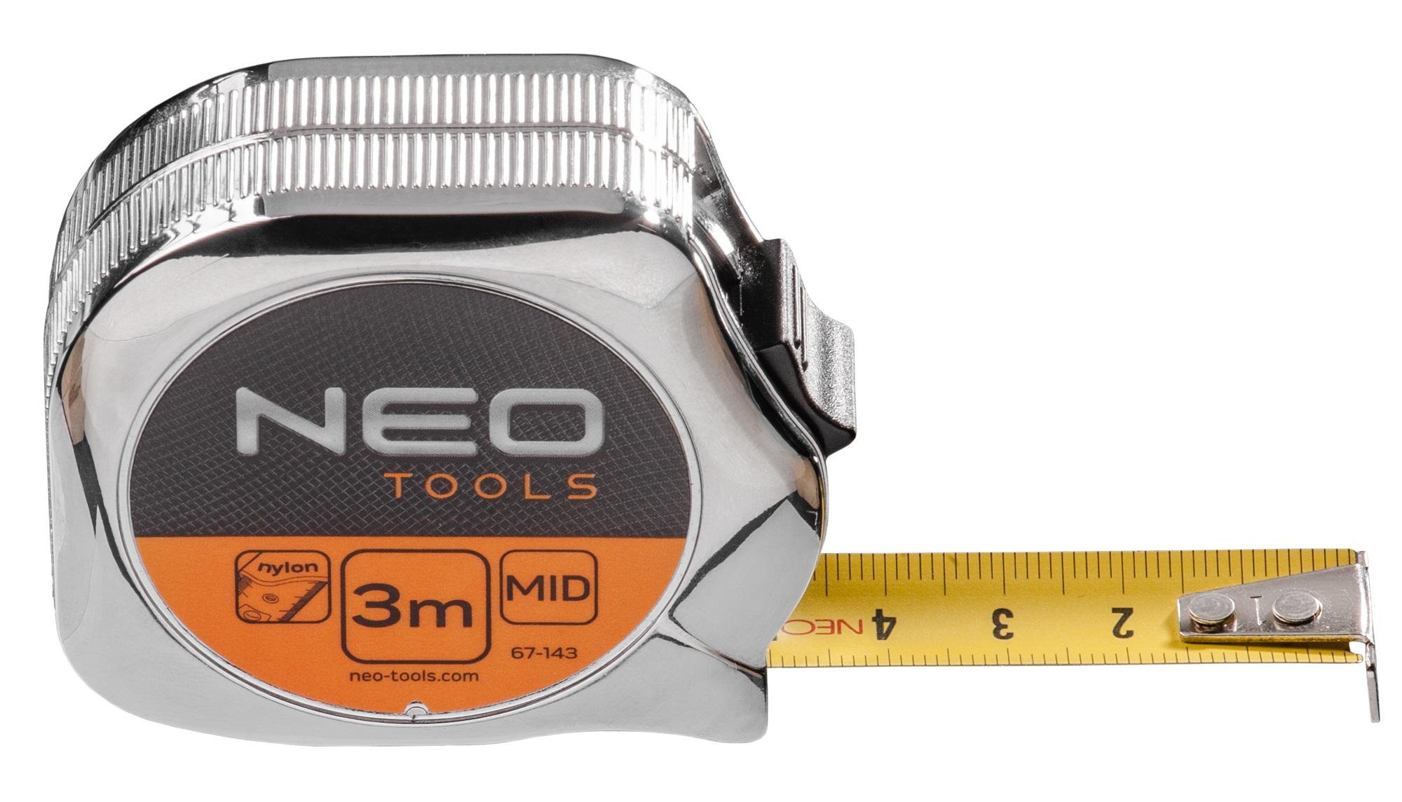 Neo Tools 67-143 Рулетка, сталева стрiчка3 м x 16 мм