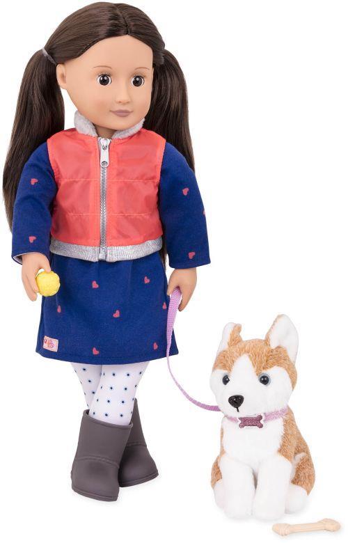 Our Generation Кукла Лесли с собакой (46 см)