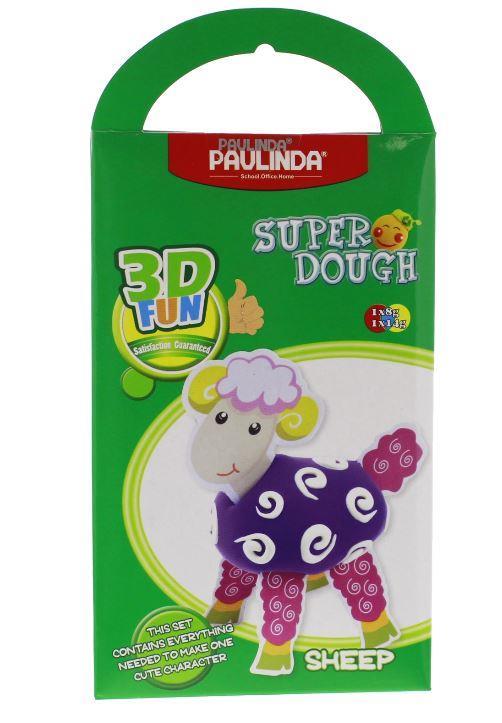 PAULINDA Масса для лепки Super Dough 3D FUN Овечка