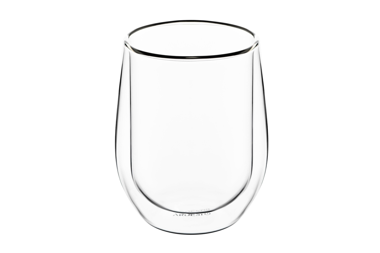 ARDESTO Набор чашек с двойными стенками, 250 мл, H 9,5 см, 2 шт, боросиликатное стекло