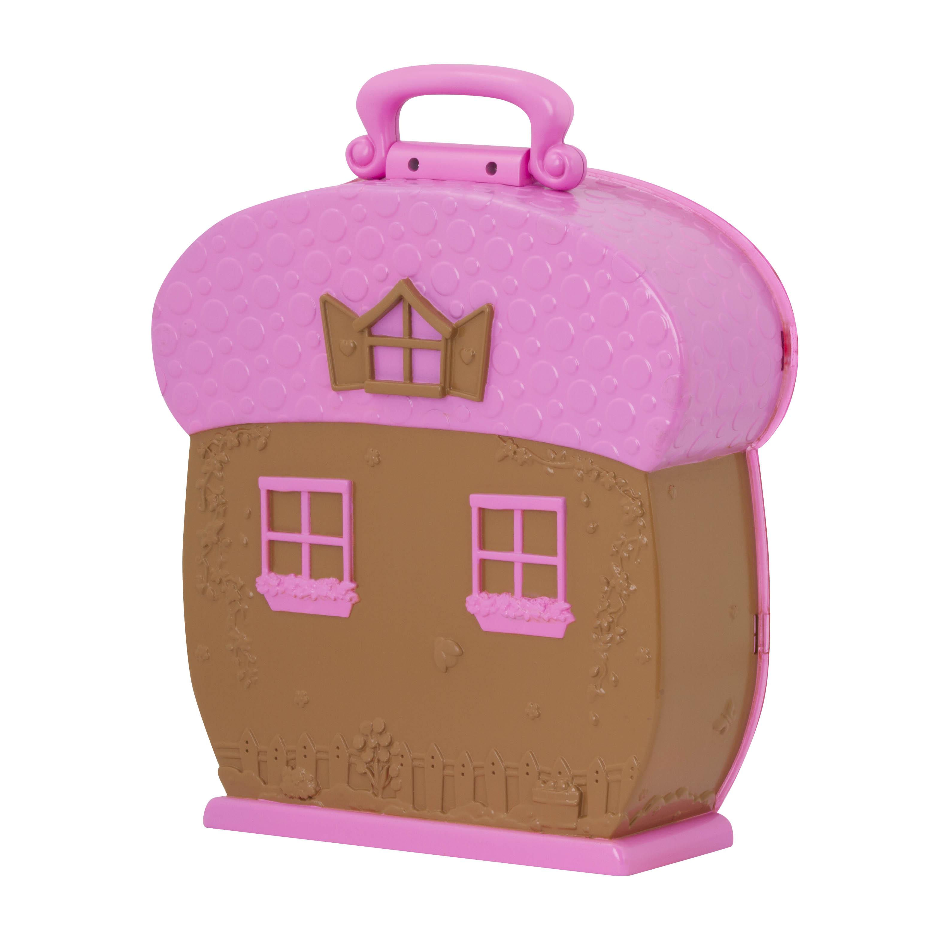 Li`l Woodzeez Кейс для фигурок (розовый)