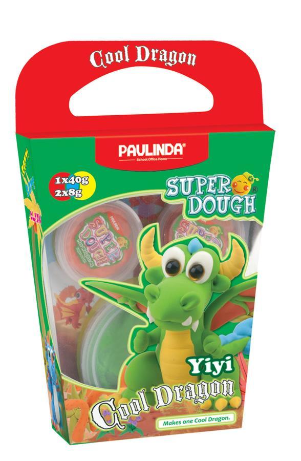 PAULINDA Маса для ліплення Super Dough Cool Dragon Дракон (зелений)