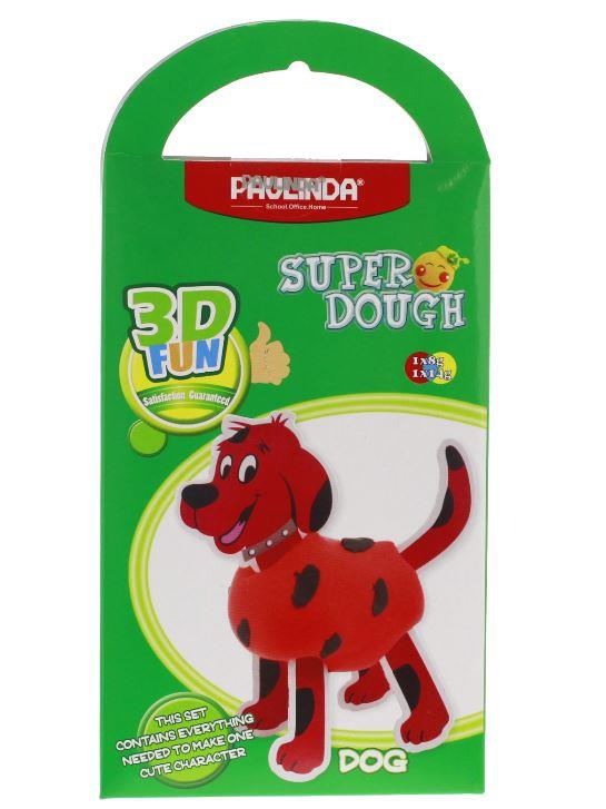 PAULINDA Маса для ліплення Super Dough 3D FUN Собака