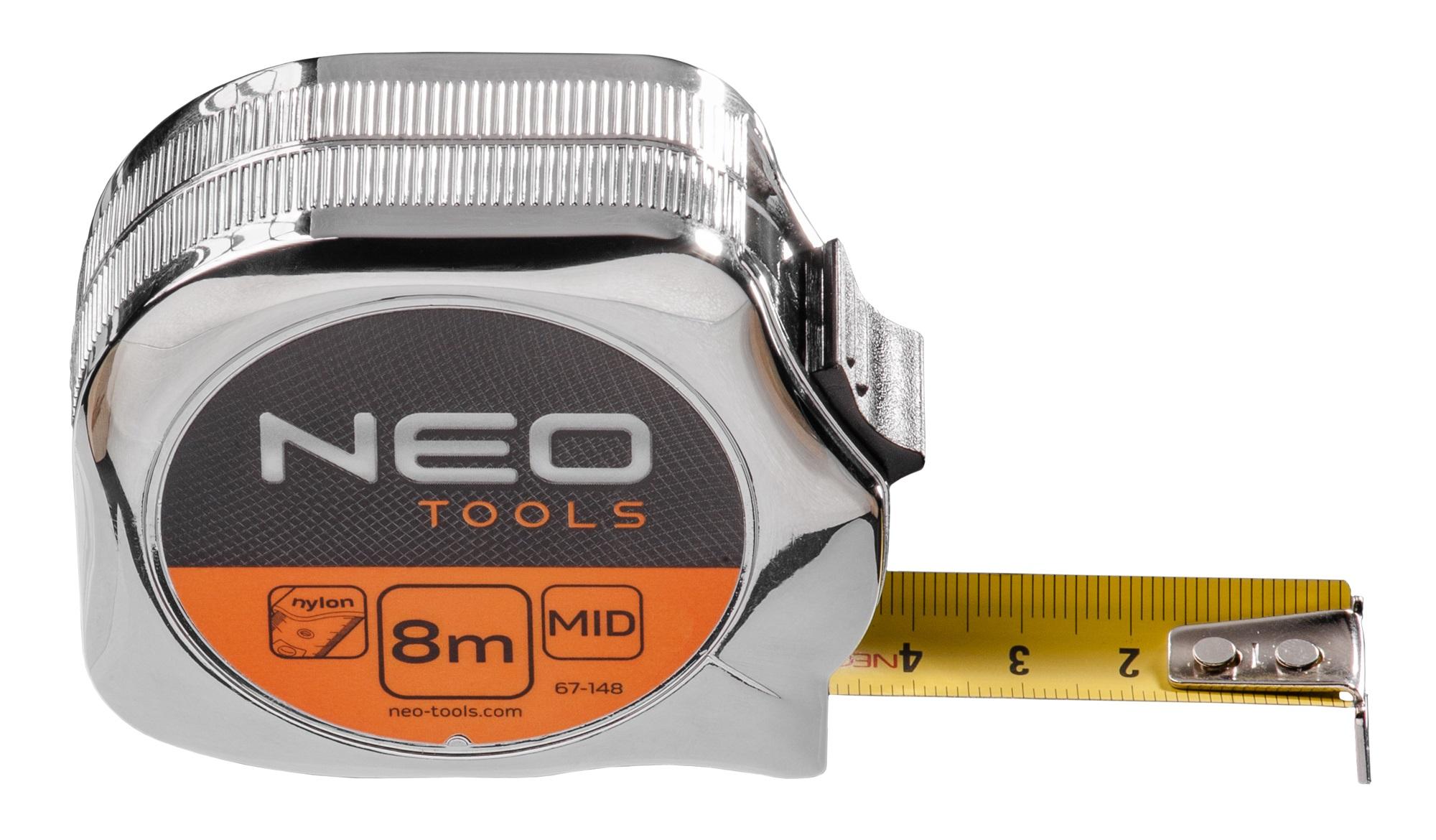 Neo Tools 67-148 Рулетка, сталева стрiчка8 м x 25 мм