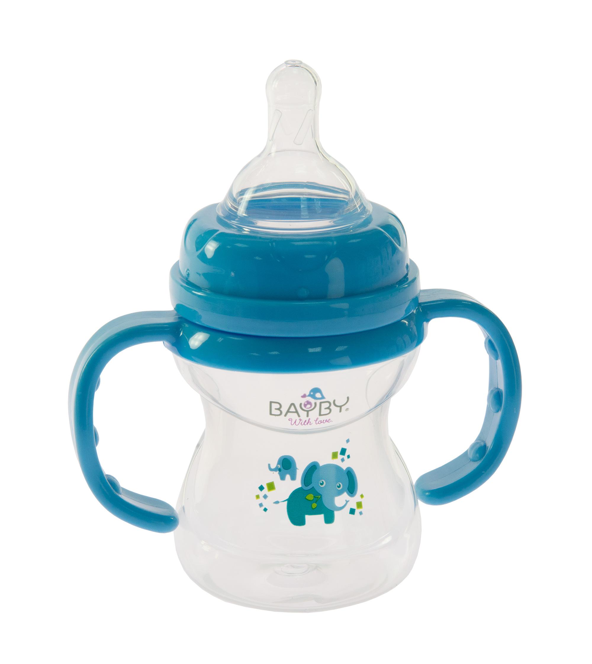 Bayby Бутылочка для кормления 150 мл 6м+ синяя