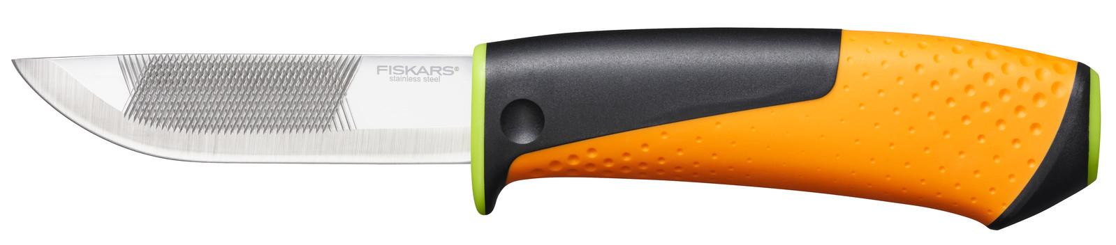 Fiskars Нож  для тяжелых работ с точилкой Hardware, 219мм, 150г