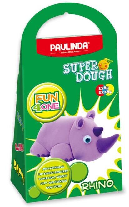 PAULINDA Маса для ліплення Super Dough Fun4one Носоріг (рухливі очі)