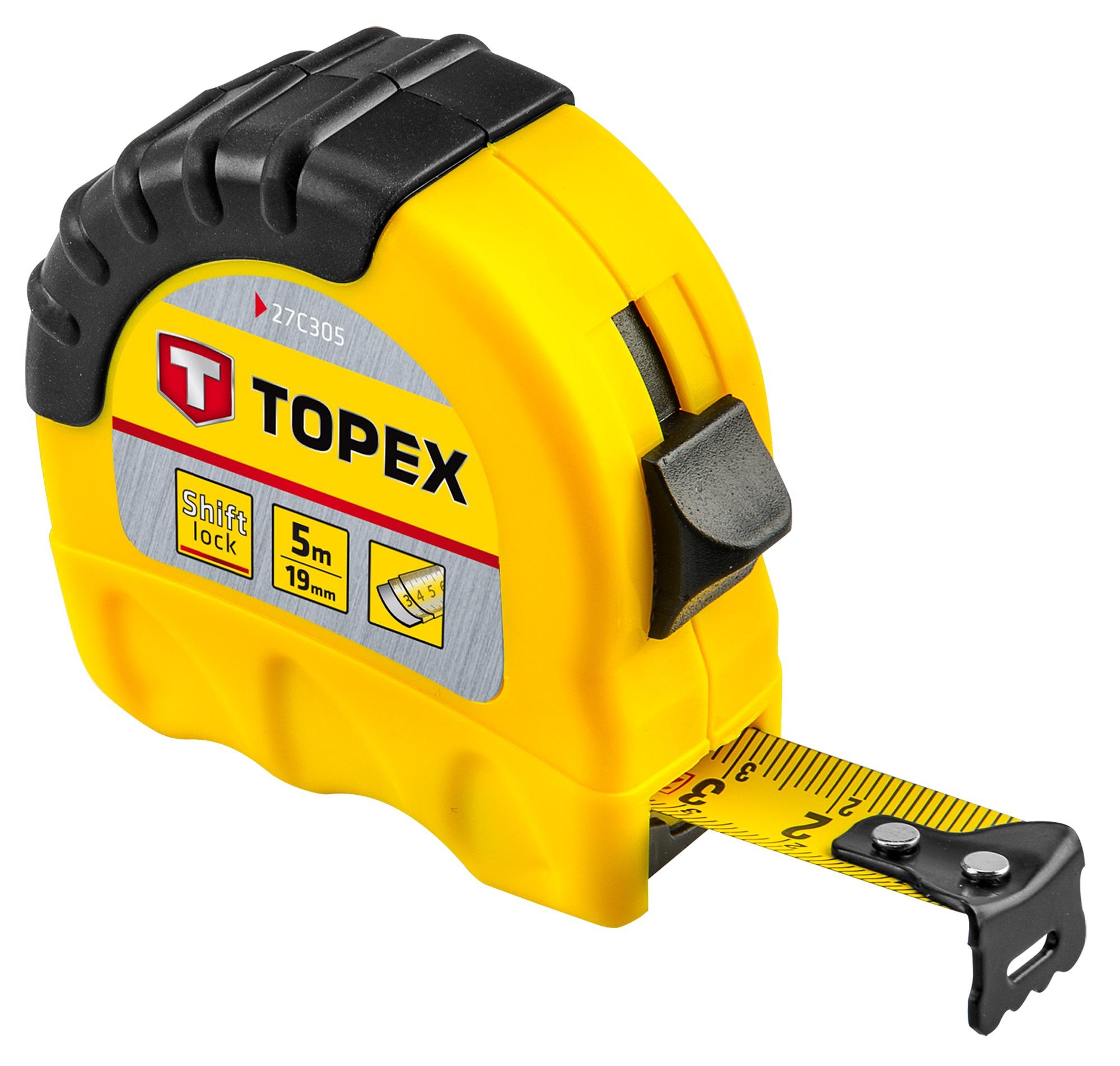 Topex 27C305 Рулетка, сталева стрiчка 5 м x 19 мм