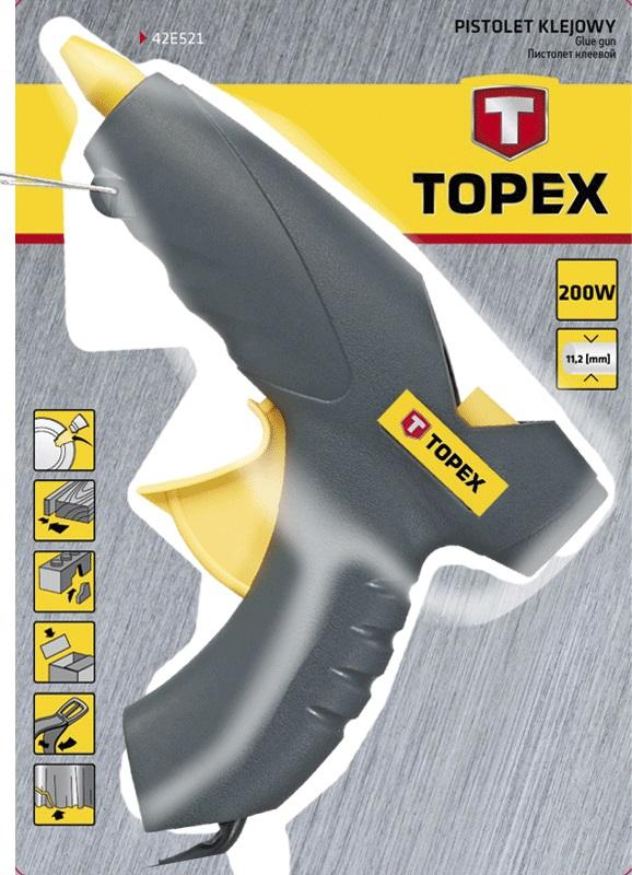 Topex 42E522 Пістолет клейовий електричний, 11 мм, 200Вт