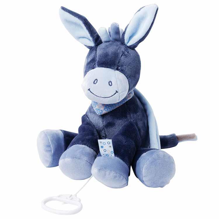 Nattou Мягкая игрушка с музыкой Ослик Алекс (28 см)