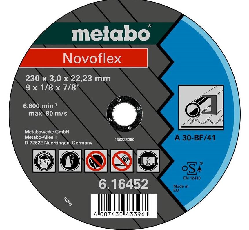 Metabo Круг отрезной Novoflex 230x3,0x22,23 сталь, TF 41