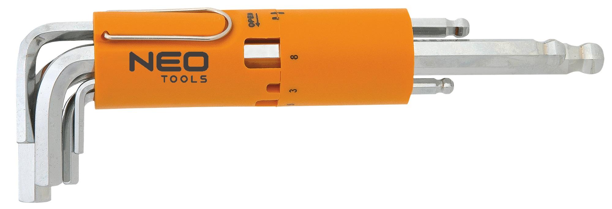 Neo Tools 09-523 Ключi шестиграннi,  2.5-10 мм, набiр 8 шт.*1 уп.