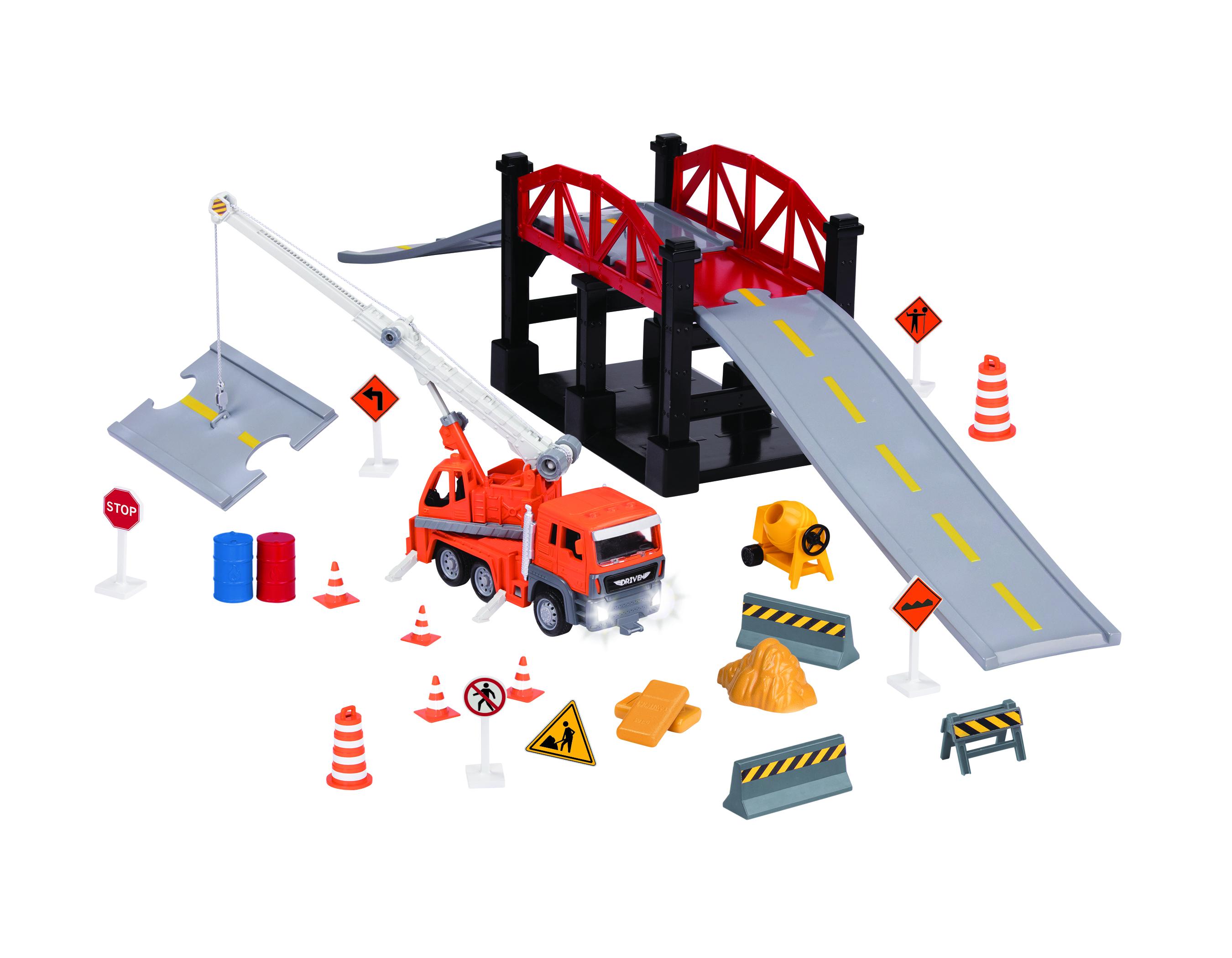 DRIVEN Ігровий набір Будівництво моста 35 ел.