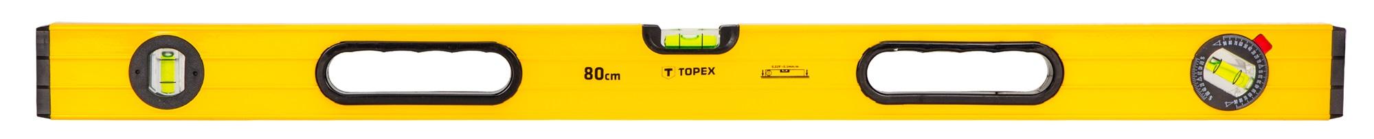 Topex 29C603 Рiвень алюмiнiєвий, тип 600, 80 см, 3 вiчка