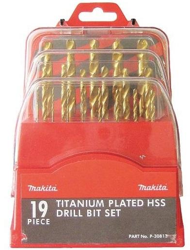 Makita 19 шт (P-30813) с покрытием нитрида титана 1-10мм