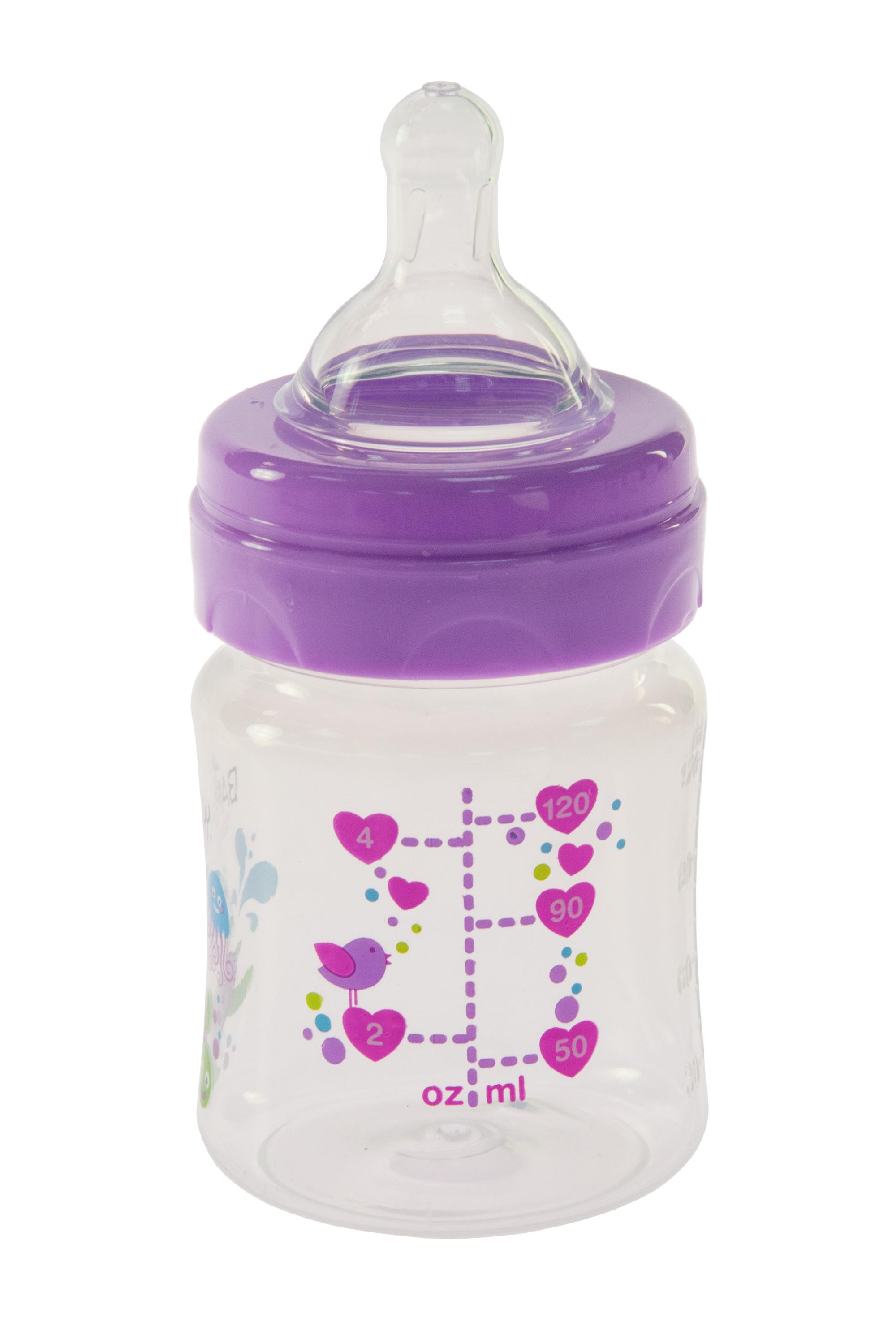 Bayby Бутылочка для кормления 120мл 0м+ фиолетовая