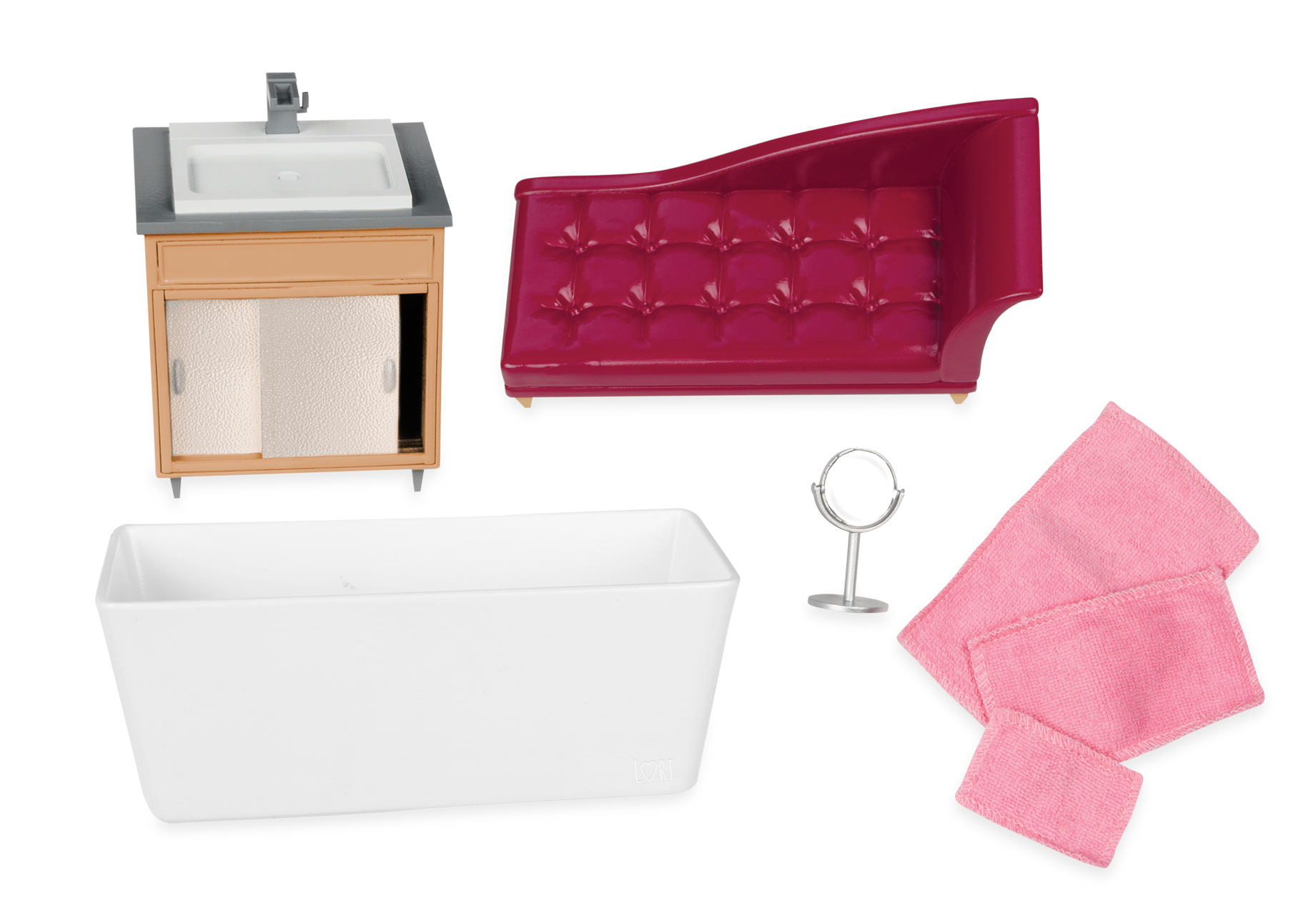 LORI Набор для кукол - Мебель для ванной