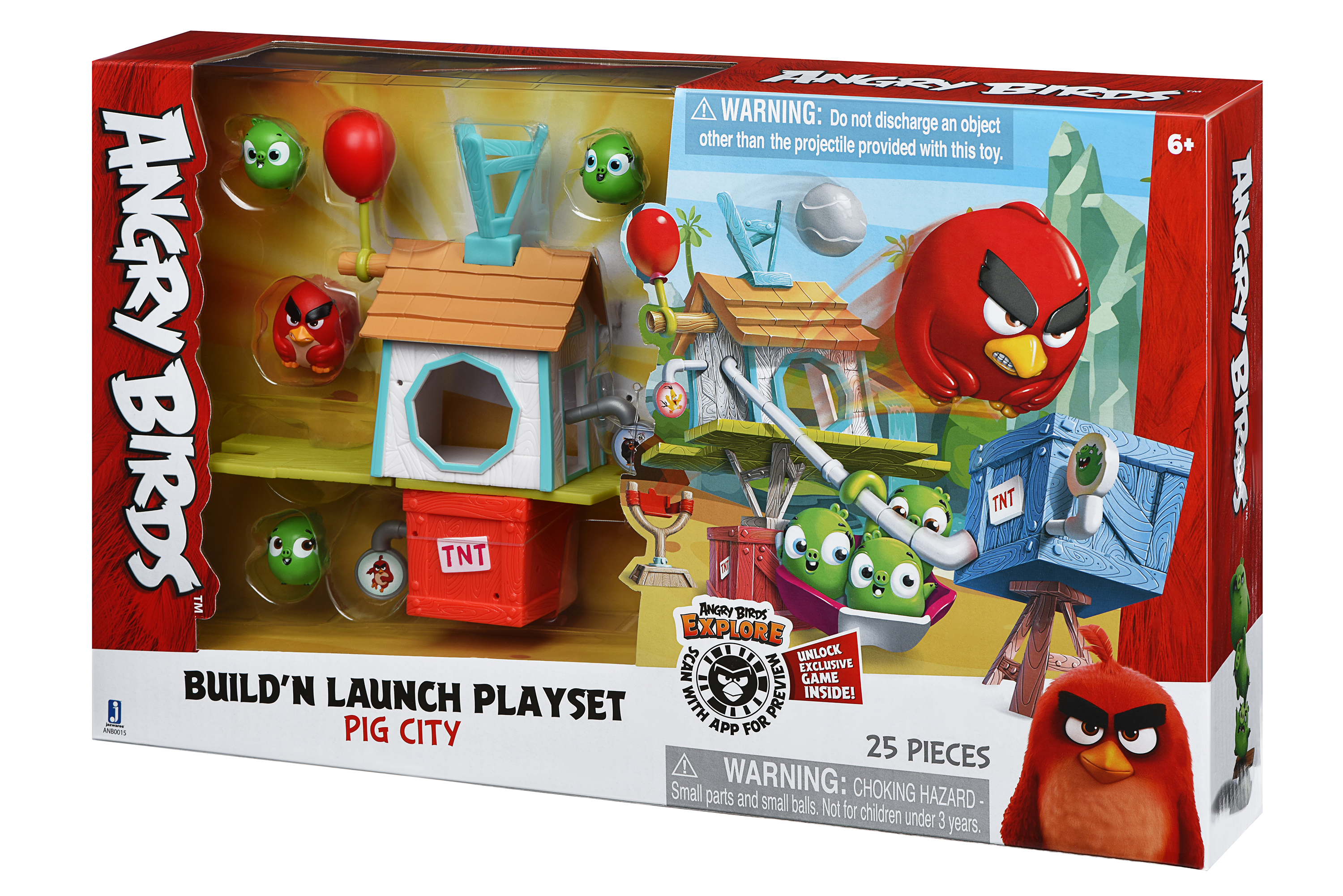 Angry Birds Ігрова фігурка ANB Medium Playset (Pig City Build 'n Launch Playset)