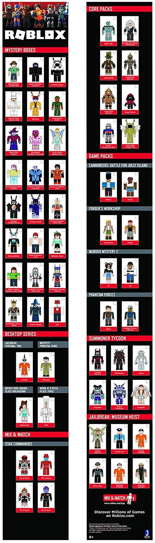 Roblox Игровая коллекционная фигурка Mix & Match  Set Star Commandos W6