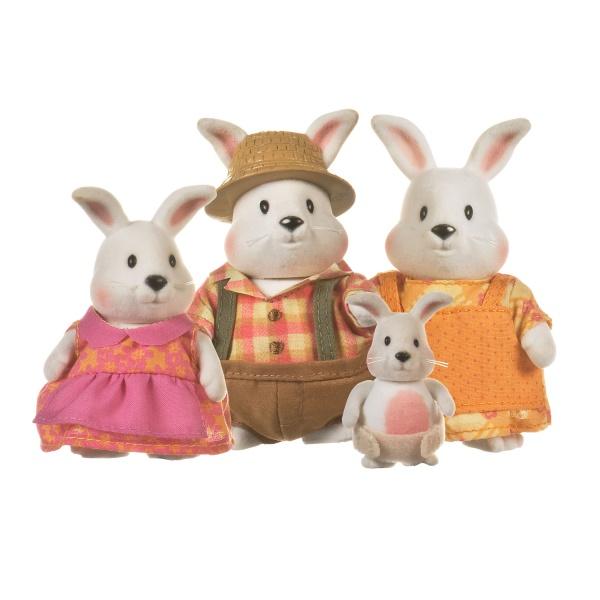 Li`l Woodzeez Набір фігурок - Сім'я Кроликів