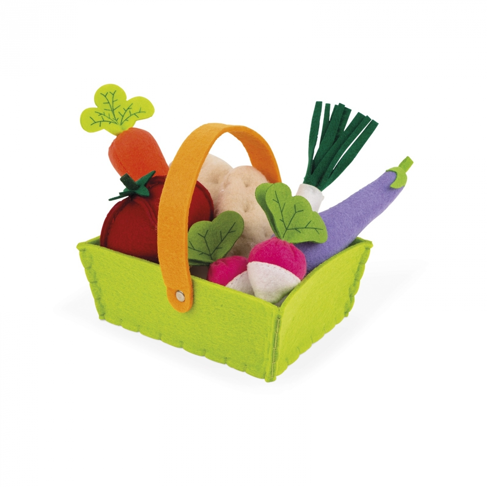 Janod Игровой набор - Корзина с овощами (8 эл.)