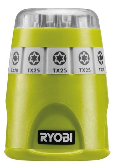 Ryobi Набор бит RAK10TSD, 10 ед., 9х25мм:ТХ10/3х20/3х25/30/40, держатель 60мм