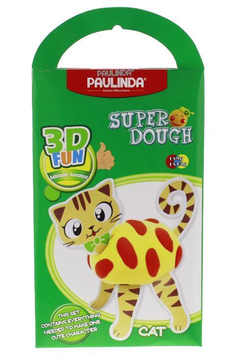 PAULINDA Масса для лепки Super Dough 3D FUN Кот
