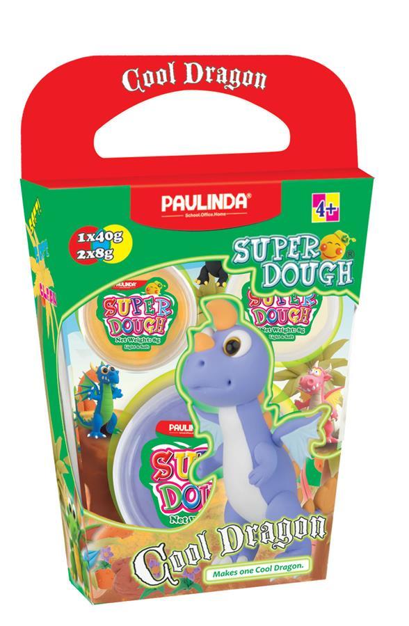PAULINDA Маса для ліплення Super Dough Cool Dragon Дракон (фіолетовий)