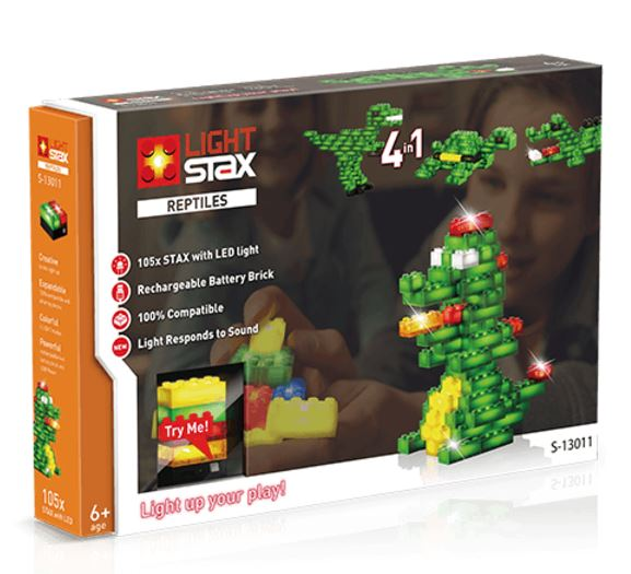 LIGHT STAX Конструктор з LED підсвічуванням Reptile V2 4в1 LS-S13011