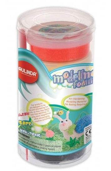 PAULINDA Маса для ліплення Modeling foam 6*45мл пластиковий бокс