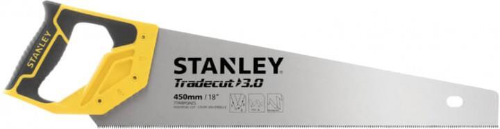 Stanley Ножовка по дереву 450мм  7 TPI закаленный зуб TRADECUT нержавеющая сталь
