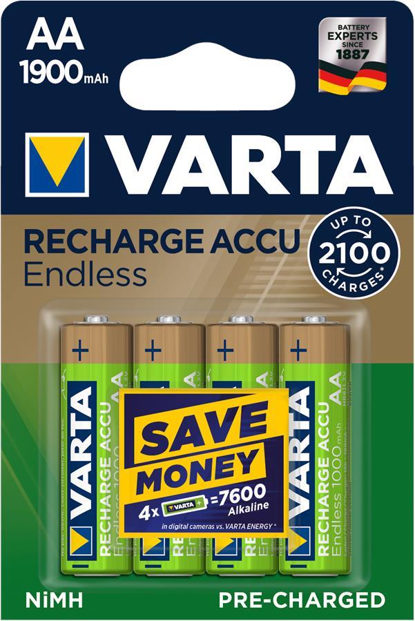 VARTA ENDLESS AA (RECHARGEABLE ACCU)[BLI 4]