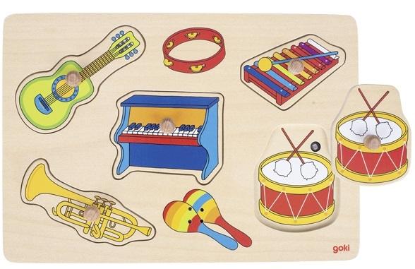 goki Пазл звуковой Музыкальные инструменты