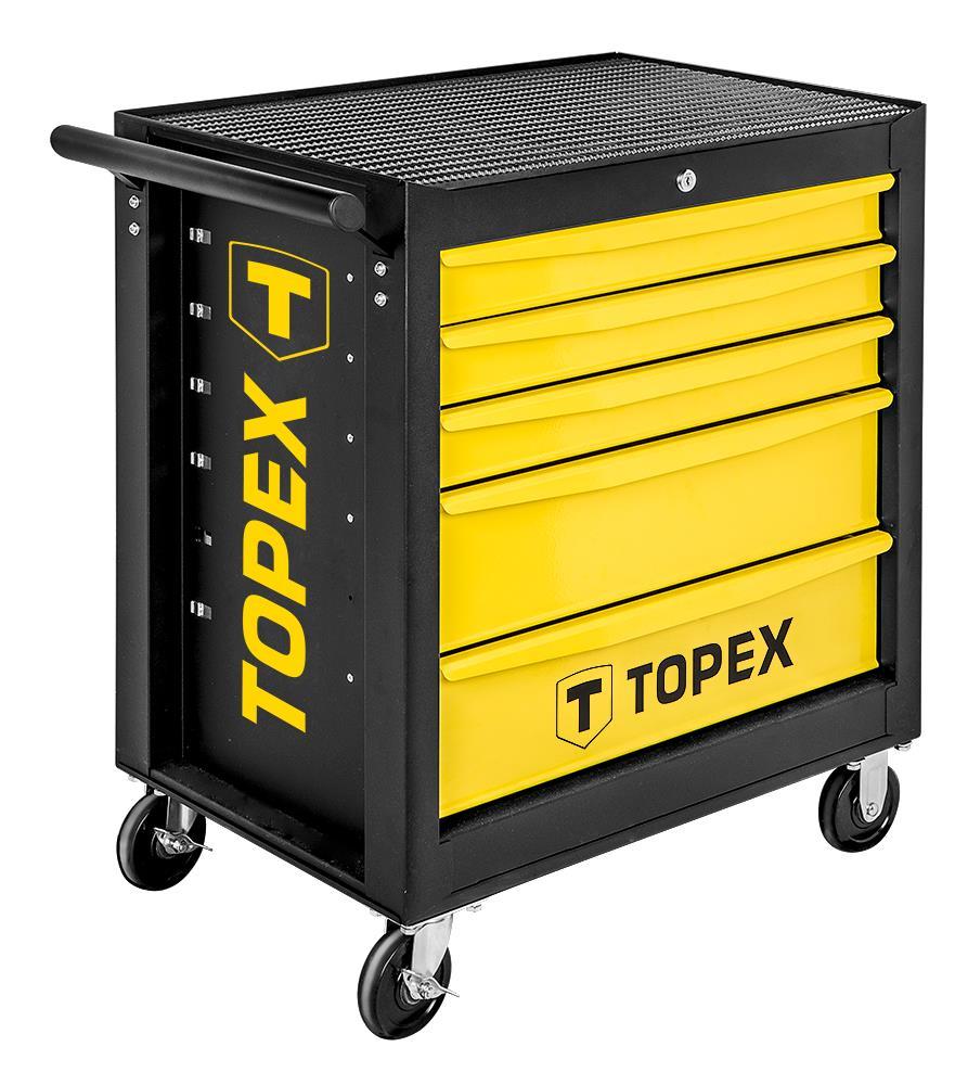 Topex 79R501 Тележка для инструмента TOPEX, 5 ящиков, 680x460x825 мм, до 280 кг, стальной корпус