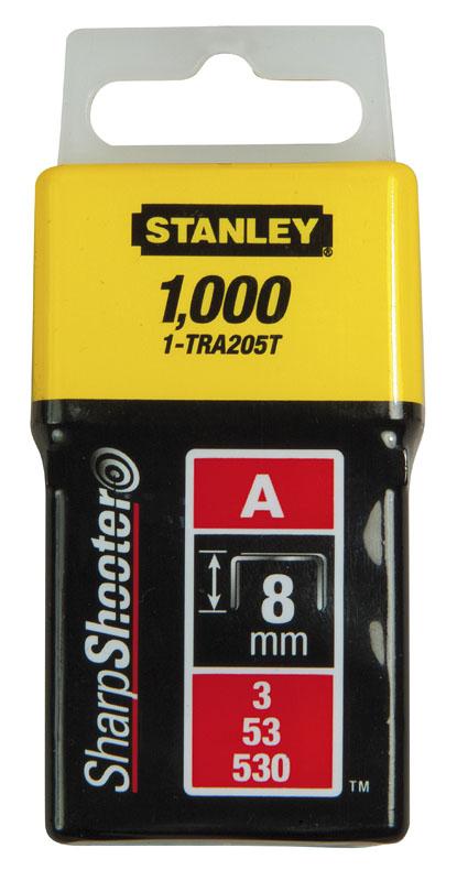 Stanley 1-TRA205T Скобы 8мм (1000шт.) (блистер)