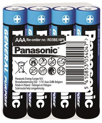 Panasonic GENERAL PURPOSE R[3 TRAY 4 ZINK-CARBON]