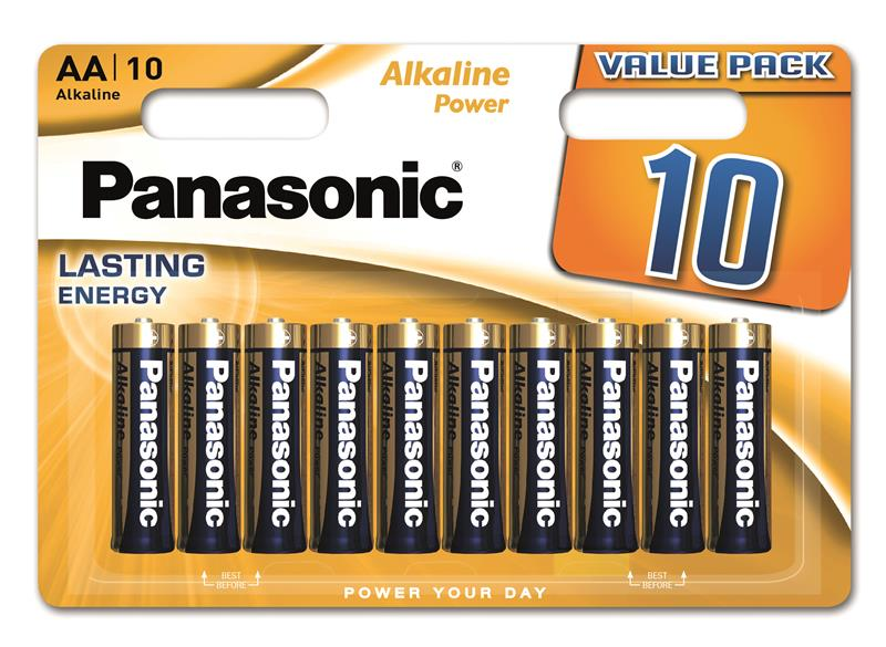Батарейки лужні Panasonic ALKALINE POWER AA BLI 10