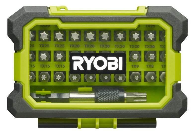 Ryobi Набір біт RAK32TSD Torx, 32ед., швидкознімний тримач 60мм